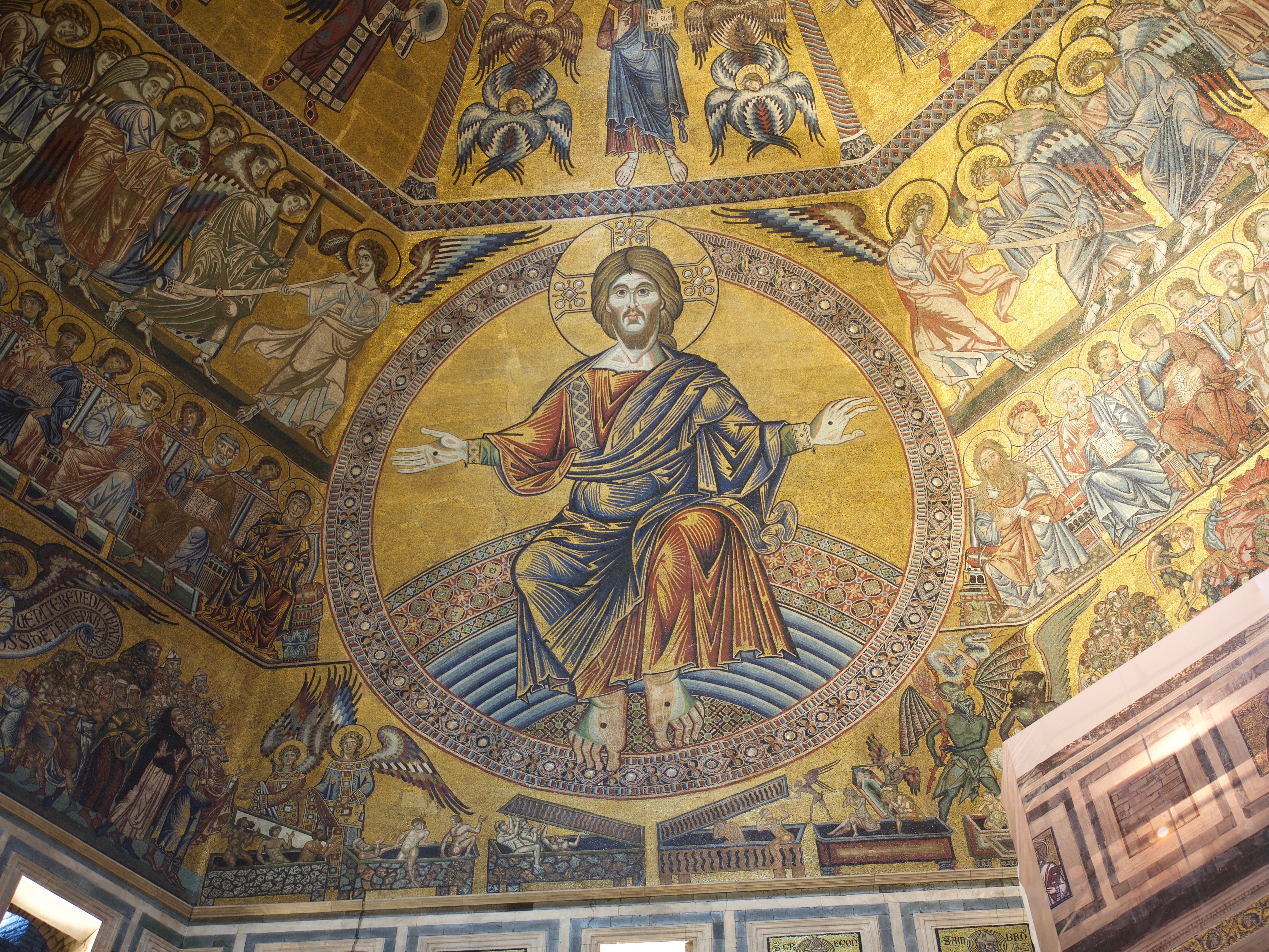 Christ Pantocrator, Italo-Byzantine Mosaic from the Baptistery in Florence