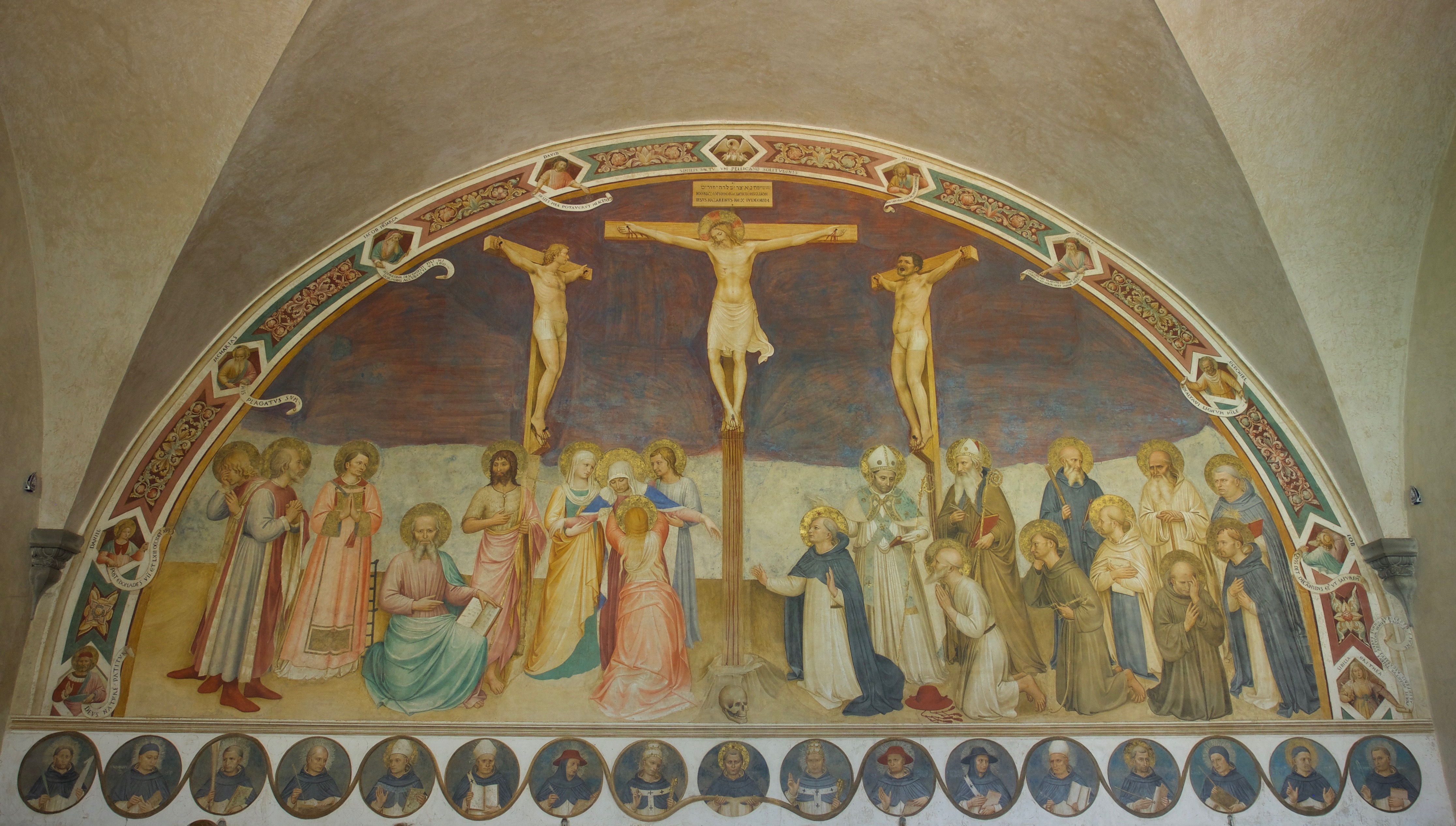 An Image of Fra Angelico's Crucifixion in the Chapter House of San Marco